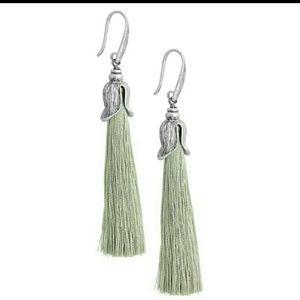 Jewelry - Pretty Silk & Burnish Silver Tulip Tassel Earrings